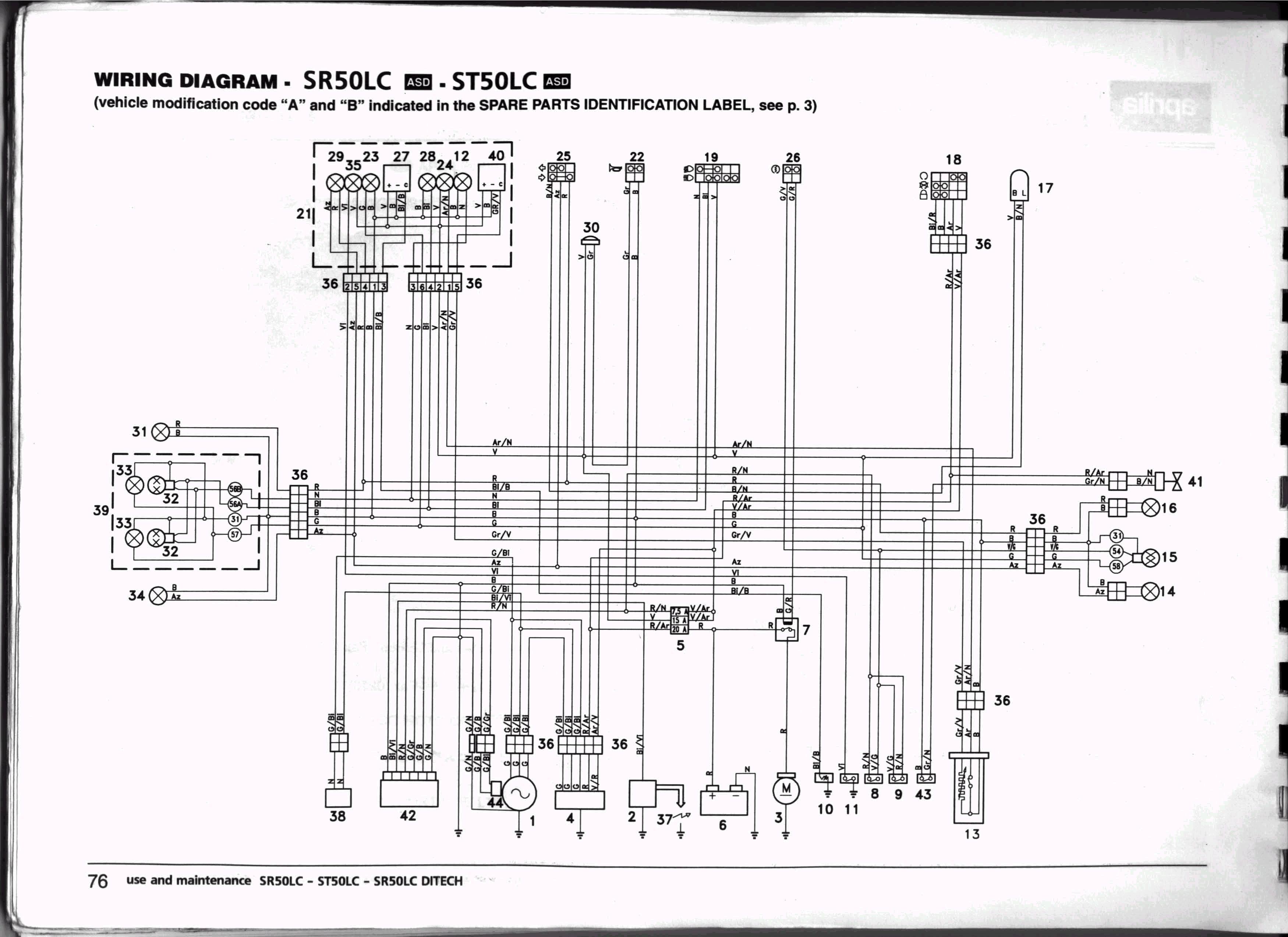 схема проводки на honda dio af 28 zx
