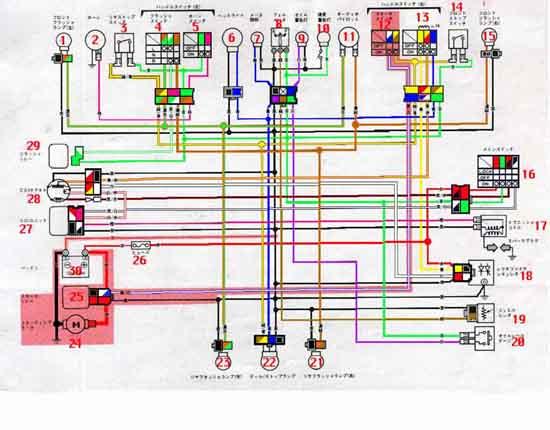 схемы проводки китайского