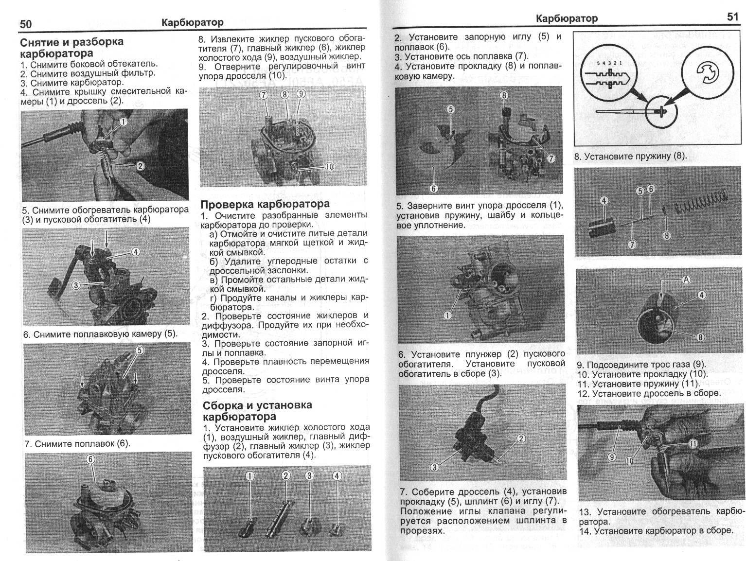 Проверка и ремонт карбюратора suzuki sepia